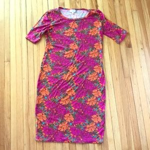 Lularoe XS Floral Fitted Dress EUC